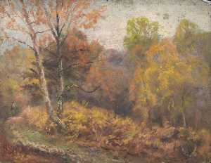 William Henry Hope - Paisaje otoñal