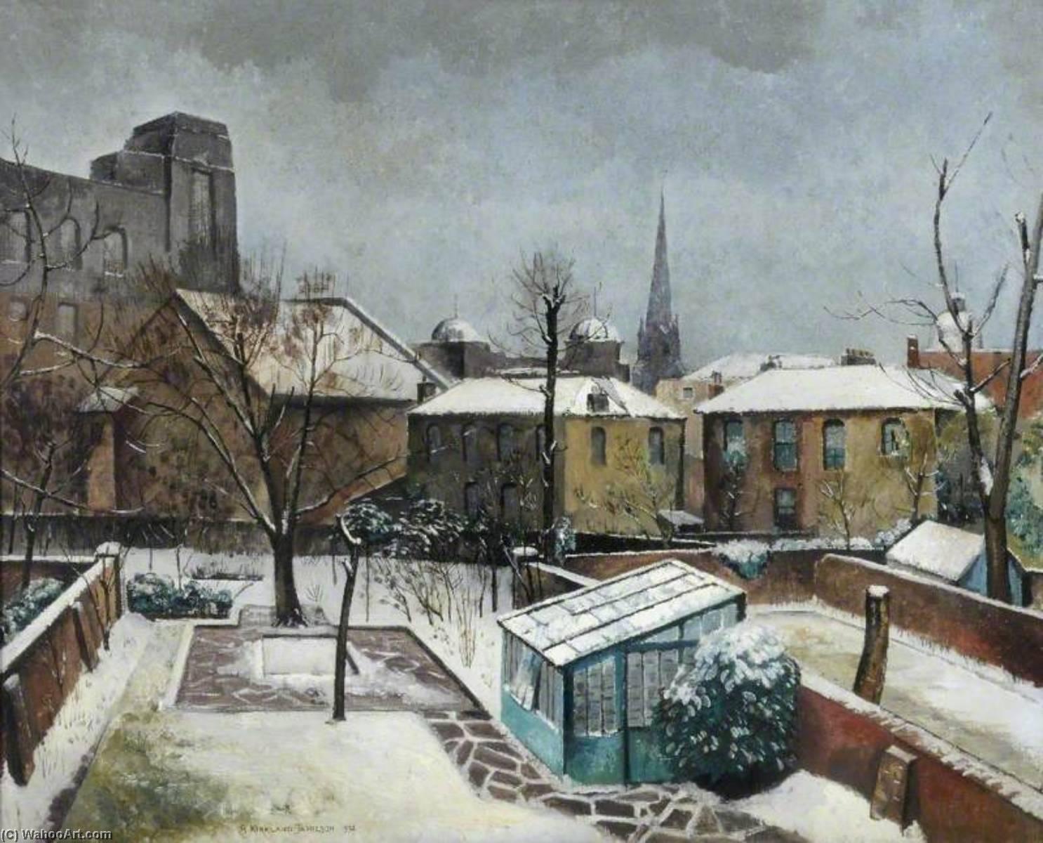 en mi jardín a la derecha , óleo sobre lienzo de Robert Kirkland ...