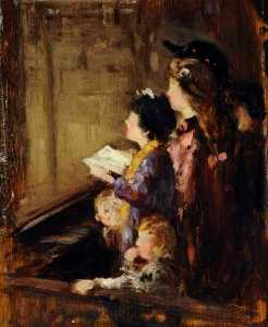 Frederick William Elwell - estudio de a iglesia  Detalle