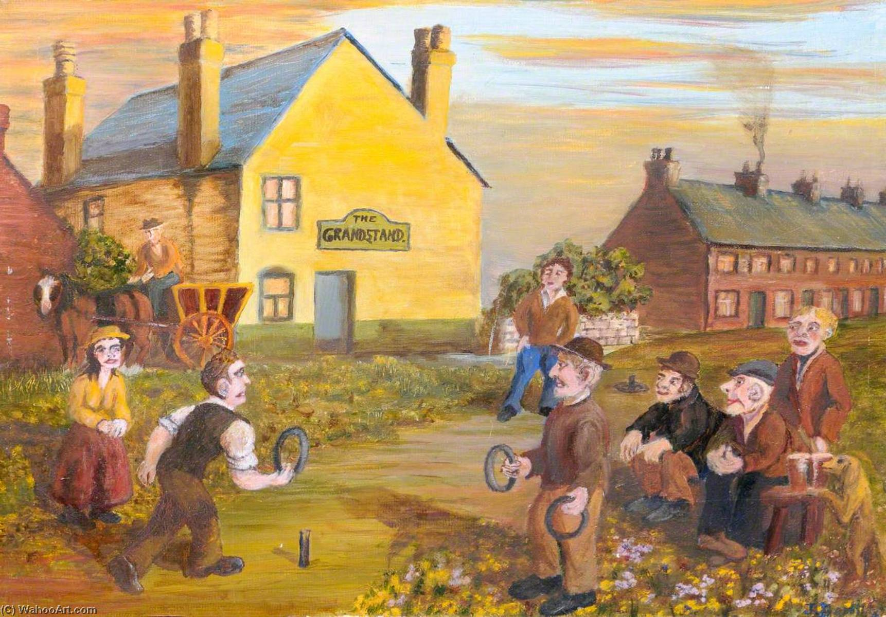 burntwood quoiters, óleo sobre lienzo de James Bentley