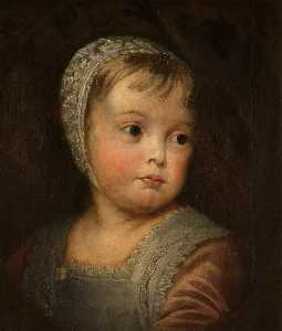 Thomas Robson - James II LA ( 1633–1701 ) , como un niño ( copia después de anthony camioneta Dyck )