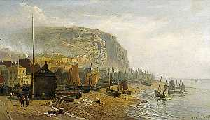 William Henry Borrow - Hastings Playa , east sussex