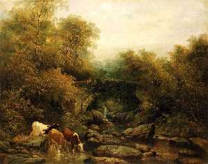 William Widgery - Fingle Puente , Devon