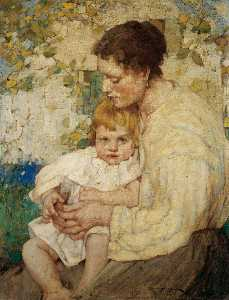 William Lee Hankey - madre y niño