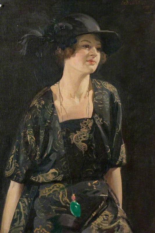 Katriona, óleo sobre lienzo de William Oliphant Hutchison