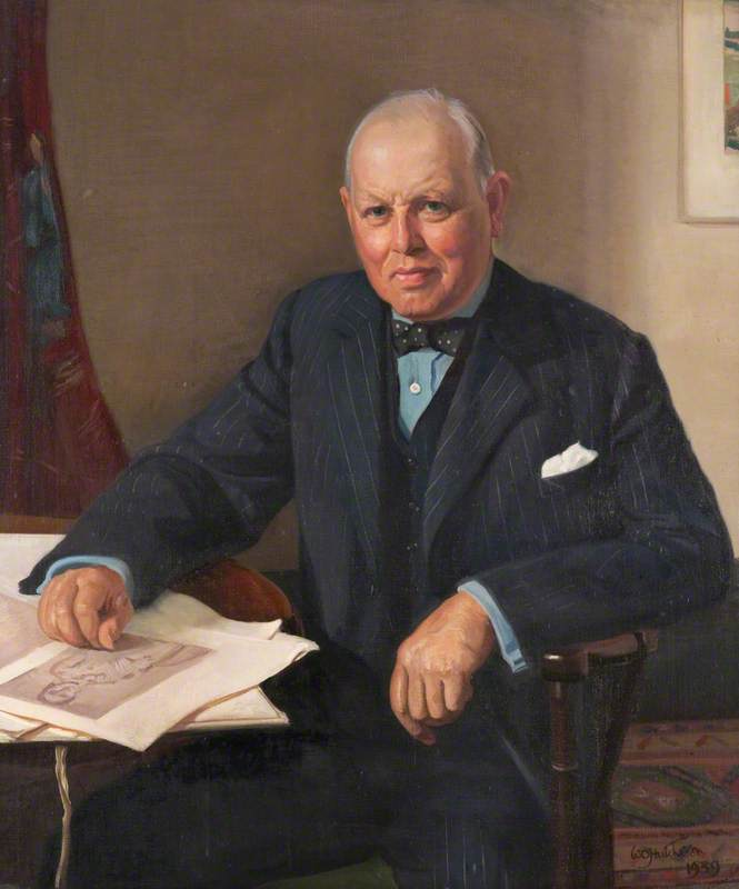 Señor john richmond ( 1869–1963 ), óleo sobre lienzo de William Oliphant Hutchison