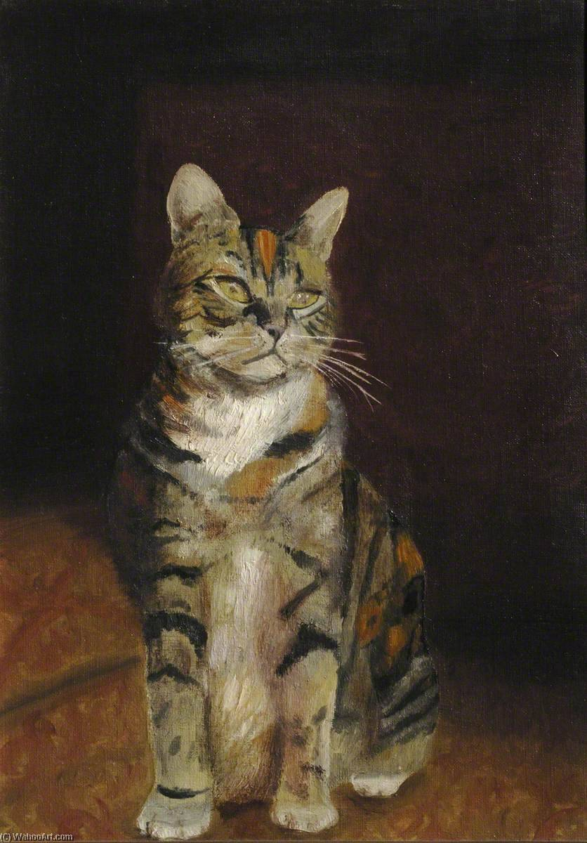 'Cholmondesbury' ( 'Cheesby' ) el gato, 1930 de Cyril Norman Hinshelwood (1897-1967, United Kingdom) | WahooArt.com