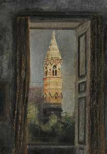 Cyril Norman Hinshelwood - vista de la universidad  capilla