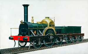 Henry Maurice Whitcombe - great western railway firefly Clase 2–2–2 Locomotora 'Ixion'