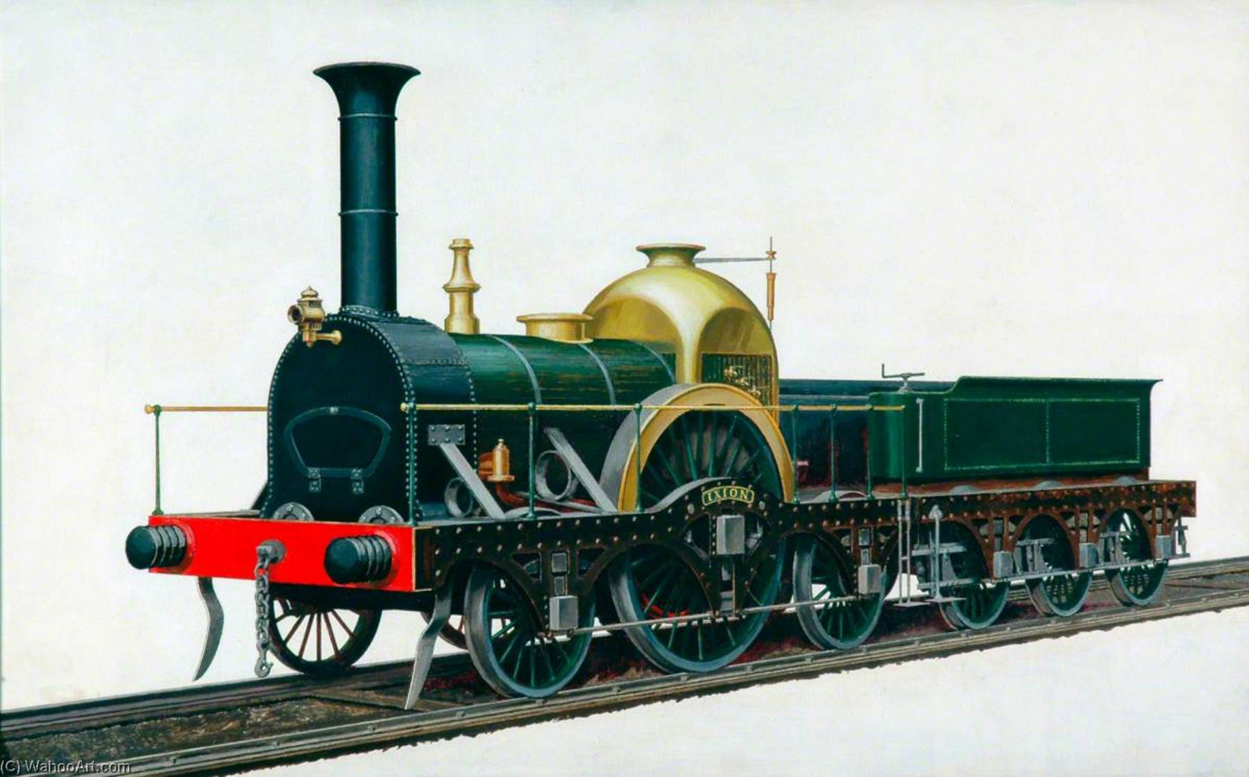 great western railway firefly Clase 2–2–2 Locomotora 'Ixion', aceite de Henry Maurice Whitcombe (pedir Arte fino copia de la pintura Henry Maurice Whitcombe)