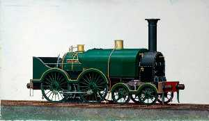 Henry Maurice Whitcombe - great western Ferrocarril 4–4–0 Saddletank Locomotora 'Corsair'