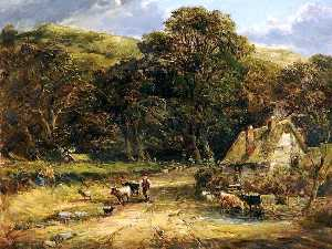 David Cox The Elder - paisaje del