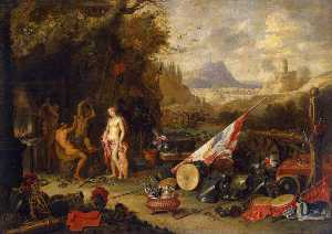 Jan Van Kessel The Elder - Venus en la fragua de Vulcano
