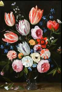 Jan Van Kessel The Elder - flores