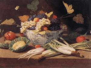 Jan Van Kessel The Elder - bodegón con verduras