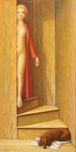 George Clair Tooker - la escalera