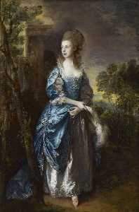 Thomas Gainsborough - El Honorable Frances Duncombe