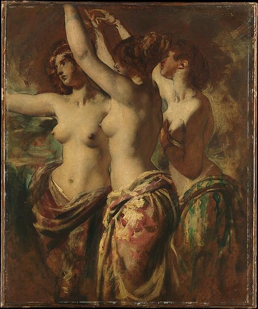 el tres gracias de William Etty (1787-1849, United Kingdom) | Reproducciones De Arte William Etty | WahooArt.com
