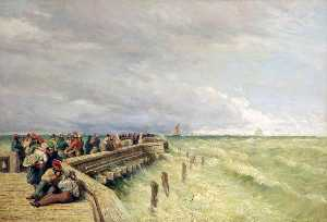 David Cox The Elder - Embarcadero de Calais