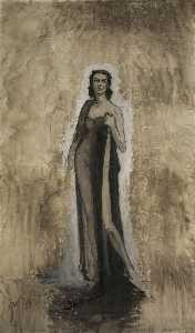 Romaine Brooks - Esquisse d'Ida Rubinstein