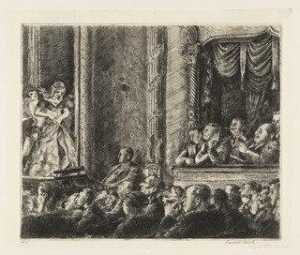 Reginald Marsh - el burlesque de la plaza de irving 1930
