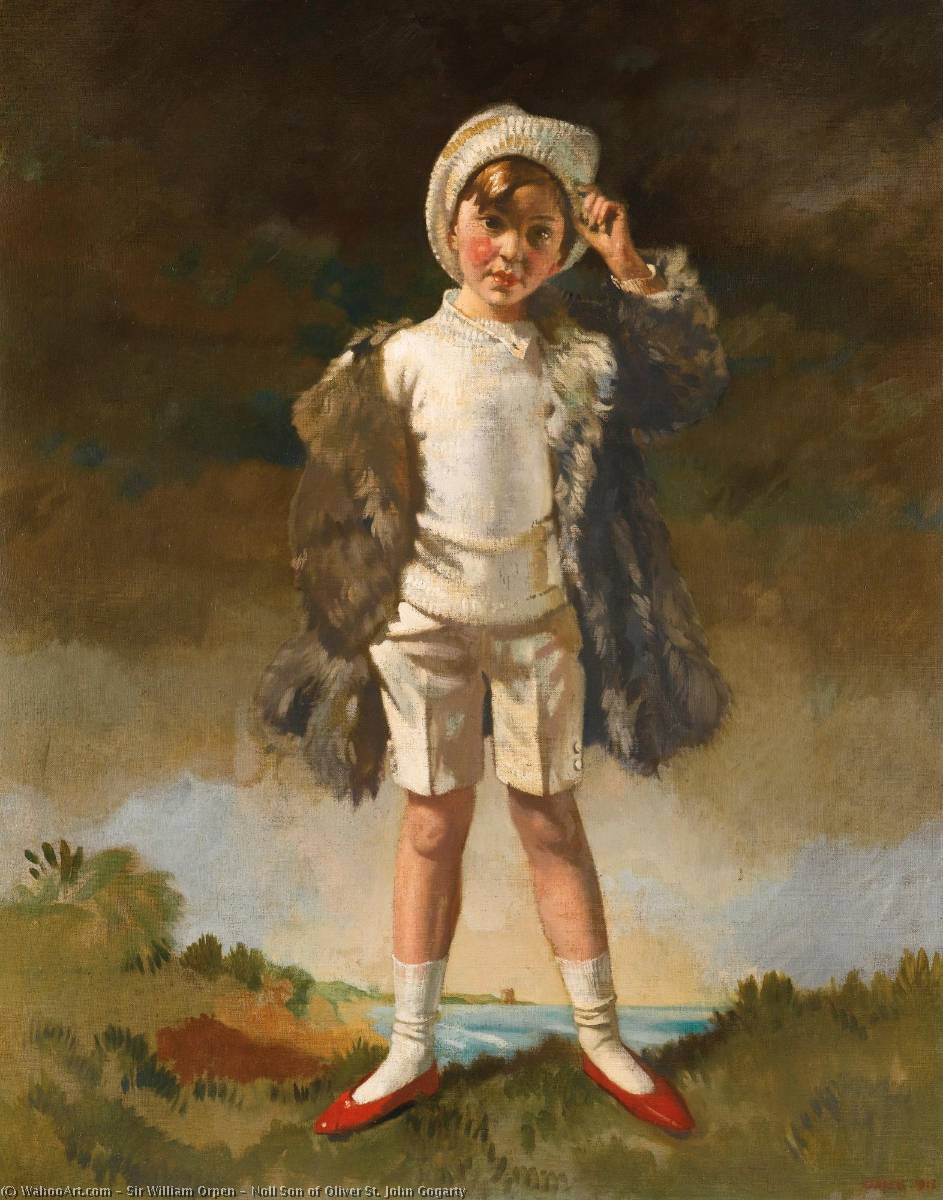 Noll Hijo de Oliver San . john gogarty, óleo sobre lienzo de William Newenham Montague Orpen (1878-1931, Ireland)