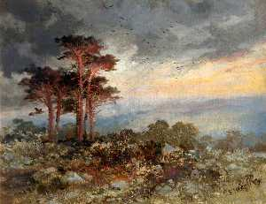 Charles Edward Wright - Estudio de Pinos , Worlebury Bosque
