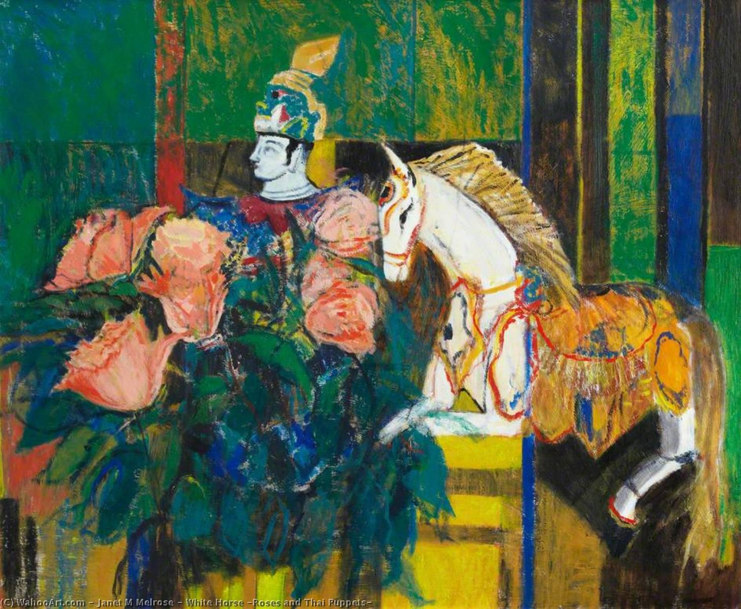caballo blanco las rosas asícomo Tailandés marionetas , aceite de ...