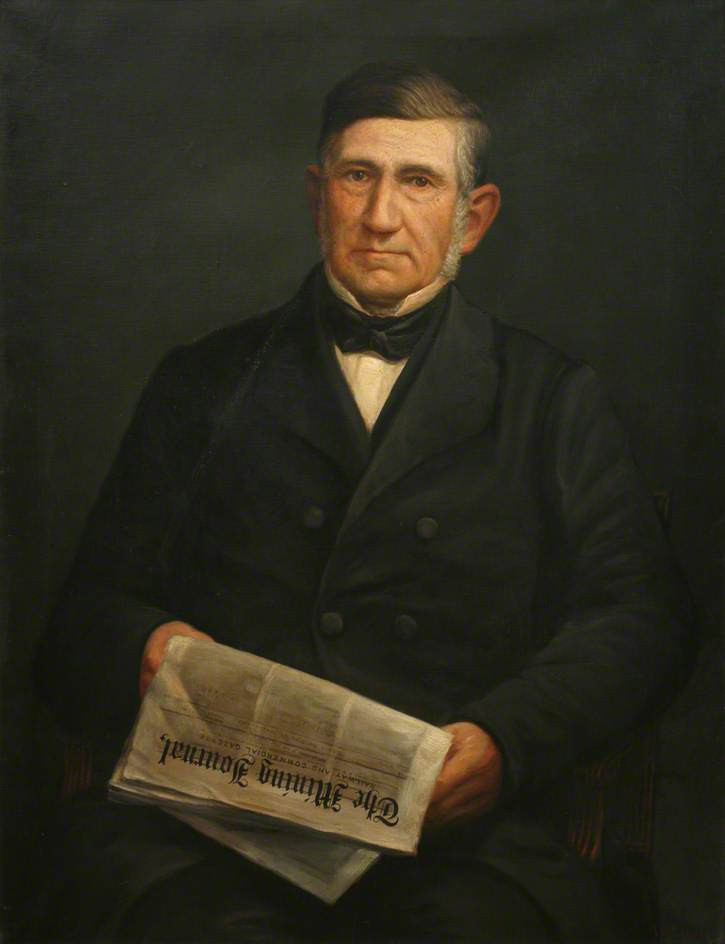 Capitán charles thomas ( 1794–1868 ), óleo sobre lienzo de William Cock