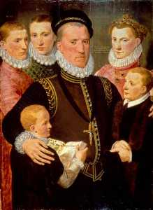 Frans The Elder Pourbus - Jorge ( do . 1531–1585 ) , 5th señor seton , y sus Familia