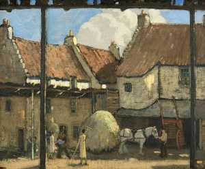 James Wright - Un Iluminado por el sol Patio , Culross