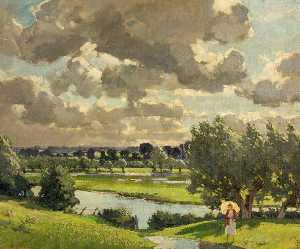 Edward James Buttar - Cricklade Paisaje , Wiltshire