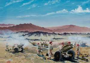 David Anthony Le Cheminant - fuego vivo , Palestina , 75mm Howitzers del 210 Batería , 53rd airlanding light regiment Real Artillería , Septiembre 1946