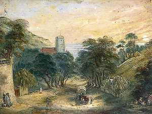 William Henry Brooke - londres viejo Camino , Entrada a Hastings , east sussex
