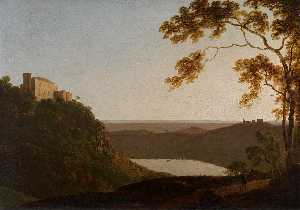 Joseph Wright Of Derby - Lago Nemi al atardecer