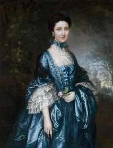Pedir Reproducciones De Arte | Perder theodosia magill ( 1744–1817 ) ( más tarde condesa de clanwilliam ), 1765 de Thomas Gainsborough (1727-1788, United Kingdom) | WahooArt.com