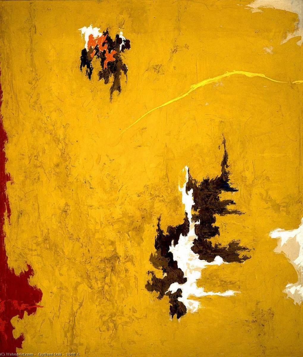 1948  do , óleo sobre lienzo de Clyfford Still (1904-1980, United States)