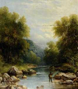 Joseph Hallam Hawkesworth - En el Don , Wharncliffe , south yorkshire