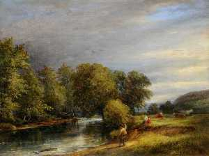 Joseph Hallam Hawkesworth - En el Rother , cerca de catcliffe , south yorkshire