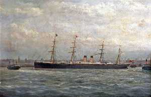George Parker Greenwood - 'Germanic' en el Mersey