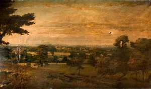 Charles James Fox - Vista de Lichfield ( detalle )