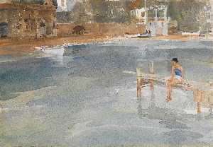 William Russell Flint - Stephanie's Embarcadero